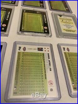 2007 Topps Derek Jeter 40 Mantle Bush Error Lot Including Printing Plate RARE