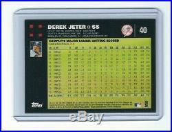 2007 Topps Derek Jeter No Mickey Mantle & George Bush #40 MINT POP 1/1 Rare