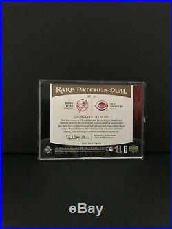 2007 UD Premier Derek Jeter & Ken Griffey, Jr Rare Patches Dual #11/25 RAREST