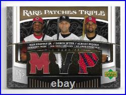 2007 UD Rare Patches Gold Ken Griffey Jr. Derek Jeter Albert Pujols Jersey 9/10