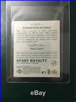 2007 Ud Goudey Sport Royalty Derek Jeter On Card Autograph Auto Rare Yankees Ssp