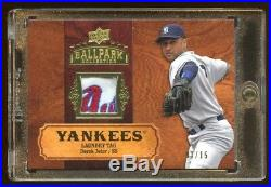 2008 Ud Derek Jeter #d 01/15 Game Worn Laundry Tag Patch Logo Beautiful Rare