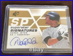 2008 Ud Spx Superstar Signatures Derek Jeter Autograph Auto Rare Yankees Sweet