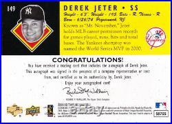 2008 Upper Deck Timeline Derek Jeter Auto Autograph 10/99 Yankees Hof Rare