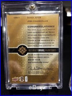 2009 Derek Jeter Joba Chamberrlain Dual Autos #12/38 Fleer #uds-3 Mint Very Rare