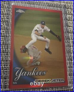 2010 Topps Chrome Derek Jeter Red Refractor 18/25 Rare YANKEES HOF