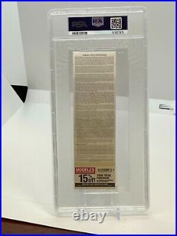 2011 Derek Jeter on Ticket 3,000 HIT Yankee Stadium 9/26/13 2013 PSA RARE