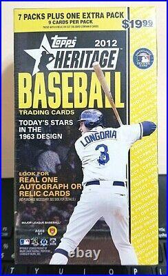 2012 Topps Heritage Baseball Blaster Box 8 Packs Sealed Trout! So Rare! Hot