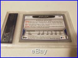2013 Bowman Derek Jeter White Cracked Ice Refractor 1/1 Ny Yankees Psa 9 Rare Sp