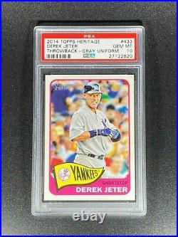 2014 Topps Heritage DEREK JETER #433 Throwback SSP PSA 10 POP 4 Super Rare