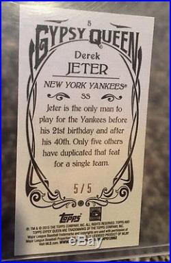 2015 Topps Gypsy DEREK JETER Mini Black 5/5 #5 Plus Bonus Didi 5/5 Rare