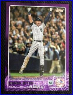 2015 Topps Toys R Us Purple Derek Jeter Yankees #1 BEYOND SUPER RARE CARD! Wow