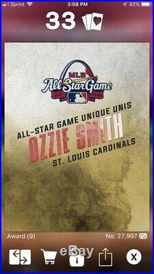2016 Topps BUNT Digital Ozzie Smith All Star Unique Unis Rare Cardinals 9cc