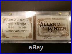 2017 Topps Allen & Ginter Dual Auto Relic Book- Jeter & Ripken Jr #3/10- RARE