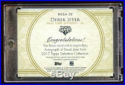 2017 Topps Derek Jeter Autograph #d 3/3 World Series Champion Auto Rare Hof