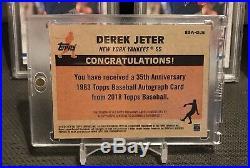 2018 Topps Baseball 35th Anniversary 1983 Autograph RARE SSP Auto Derek Jeter
