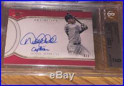 2018 Topps Definitive Derek Jeter Rare Inscription Auto Captain True 1/1 Yankees