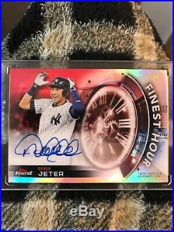 2018 Topps Finest Derek Jeter Finest Hour Auto Red 5/5 Yankees Super Rare
