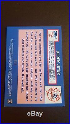 2019 DEREK JETER Topps Silver Pack 1984 RED REFRACTOR #5/5 NY Yankees #19 RARE