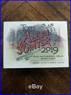 2019 Derek Jeter Aaron Judge Topps Allen Ginter 2CLR Dual Auto Booklet 3/10 RARE