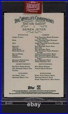 2019 Topps Archives'18 Allen & Ginter Derek Jeter AUTO 1/1 1 Of 1 #2 X-RARE