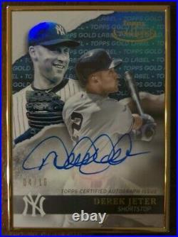 2020 Topps Gold Label Baseball Autographs Auto Blue Derek Jeter 04/10 RARE