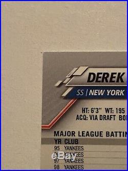 2020 Topps chrome Derek Jeter SSP Card 50 On Back Rare