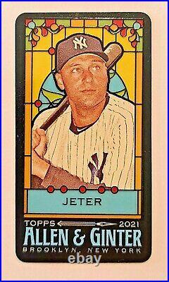 2021 Allen & Ginter DEREK JETER Yankees Stained Glass Mini Triple Rip /25 RARE