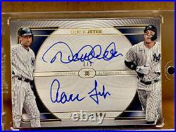 2021 Topps Definitive Derek Jeter Aaron Judge Dual Auto 1/5 RARE Yankees On Card