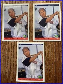 3 Card Lot 1993 Classic Best #1 Derek Jeter Greensboro Hornets RARE