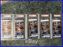 5 2000 World Series Tickets Full Yankees Mets Rivera Jeter Psa 8,6,6,6,6 Rare