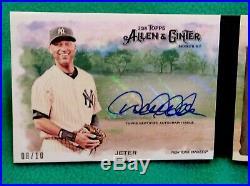 #8/10derek Jeter2018 Allen & Ginter Autograph Relic Book Cardnyrare