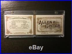 Allen & Ginters Derek Jeter / Cal Ripken Jr #02/10 Dual Auto Patch Jersey- Rare