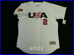 Authentic Derek Jeter USA 2006 World Baseball Classic Jersey Yankees RARE! 48