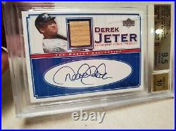 Auto Derek Jeter 2000 Ud Master Collection Autograph /100 Rare 9.5 T1908
