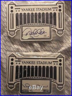 Autographed Derek Jeter/ Mo Rivera Old Yankee Stadium Chairs SUPER RARE