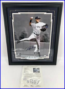 Autographed/Signed Derek Jeter 16x20 New York Yankees Framed JSA LOA 1 of 1 RARE