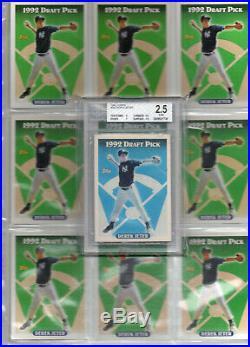 BLUE 1993 Topps DEREK JETER RC, BGS 2.5, Yankees, 1st Ballot HOF, Rare