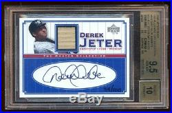 Bgs 9.5 10 Auto Derek Jeter 2000 Ud Master Collection Autograph Bat /100 Rare