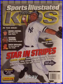 Britney Spears Card Rare Derek Jeter Sports Illustrated For Kids Magazine 2001