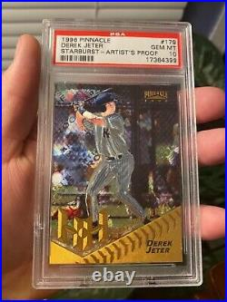 Crazy Rare Pop 11 1996 Pinnacle Starburst Artists Proof Derek Jeter Rc Tough