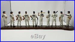 DANBURY MINT- NEW YORK YANKEES 1998 Line Up Figurines with Derek Jeter Rare COA