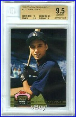 DEREK JETER1993 STADIUM CLUB MURPHY BGS-9.5 GEM-MT with10 RARE ROOKIE RC CARD#117