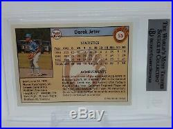 DEREK JETER 1992 Front Row Draft Picks SILVER BGS 2x 9 SUBS nm-mt! Psa 9 RARE