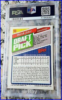 DEREK JETER 1993 Topps SP GOLD Rookie Card RC PSA 8.5 RARE NY Yankees $$ HOF $$