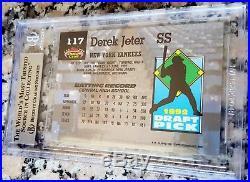 DEREK JETER 1993 Topps Stadium Club MURPHY Rookie Card RC BGS 9 9.5 RARE HOF