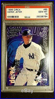 DEREK JETER 1996 Fleer Circa #65 PSA 10 GEM Mint VERY Low POP 14 rare card