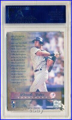 DEREK JETER 1997 Finest #166 Rare Gold REFRACTOR PSA 10 GEM MINT Yankees