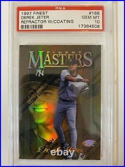 DEREK JETER 1997 Finest #166 Rare Gold REFRACTOR PSA 10 GEM MINT Yankees Coating