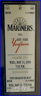DEREK JETER 1st RBI & 3rd CAREER HIT RARE FULL ROOKIE TICKET MAY 31 1995 YANKEES